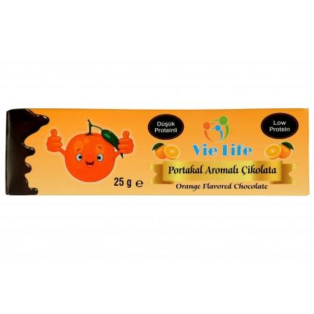 Düşük Proteinli Portakal Aromalı Çikolata